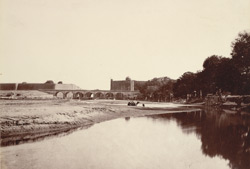 The Palace and Selimgurh, from the Jumna, Delhi. .